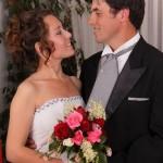 Enamorados. Yanina y Nicolás en el día de su casamiento.